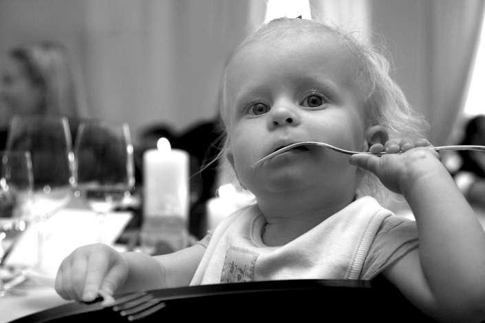 mit der Gabel essen üben