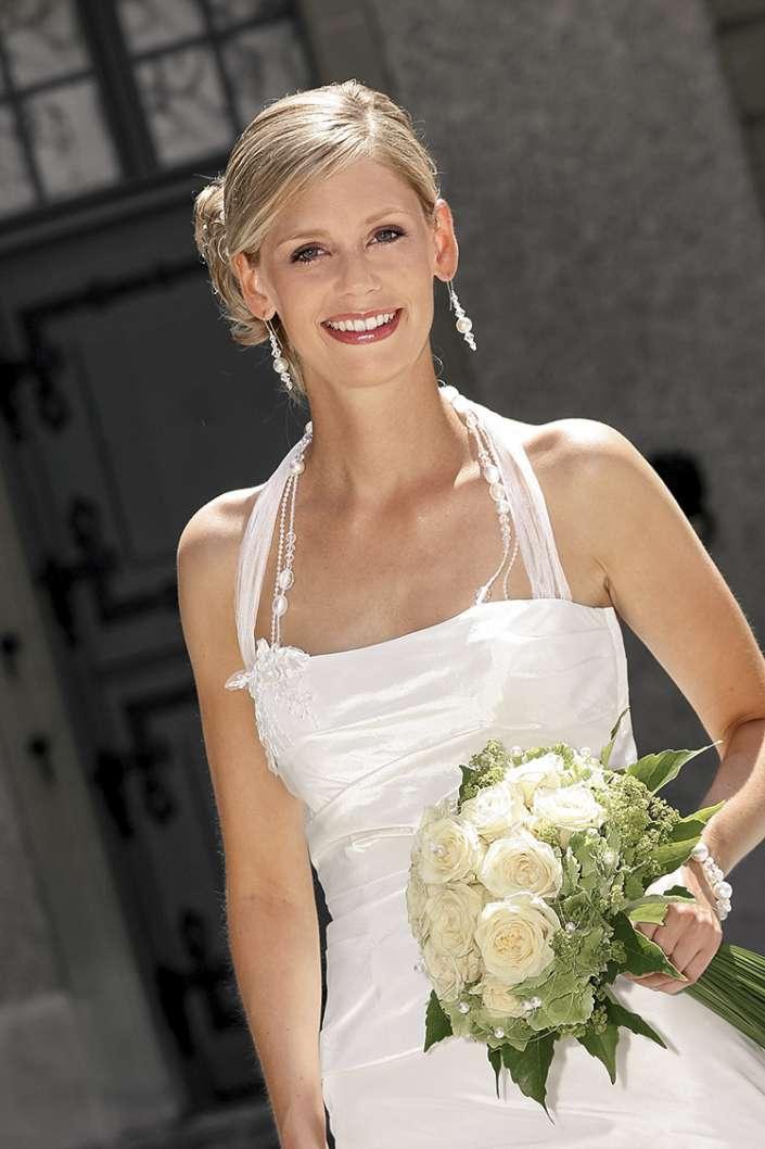 Brautfoto im Gegenlicht