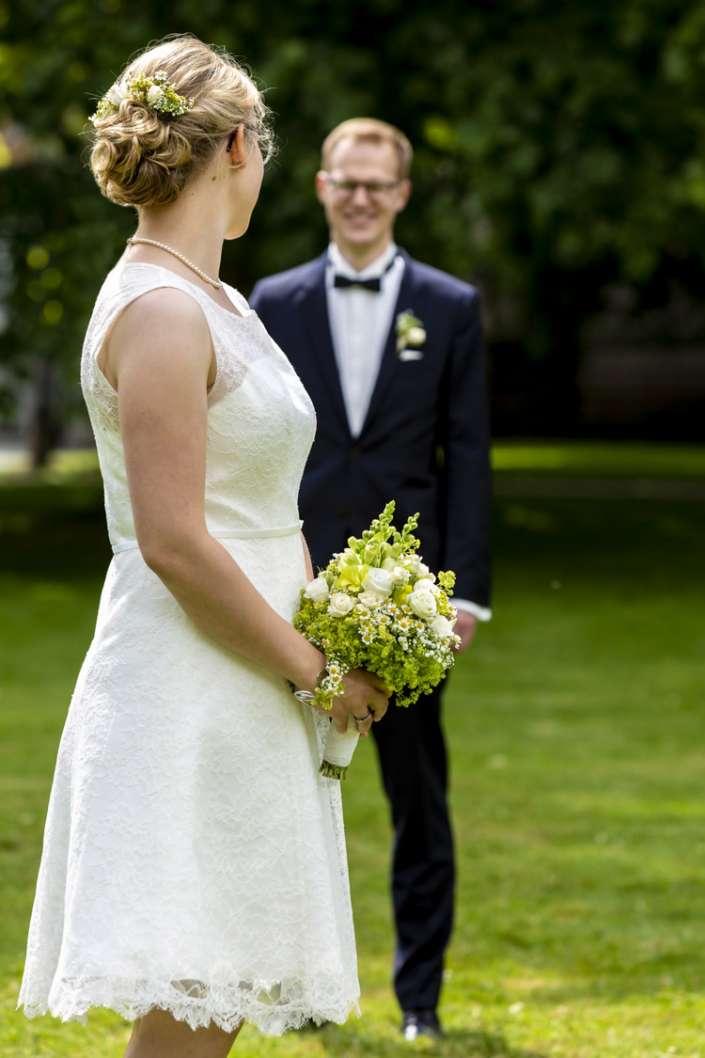 Hochzeitsfotograf in Bruchsal. Die Braut steht im Fokus.