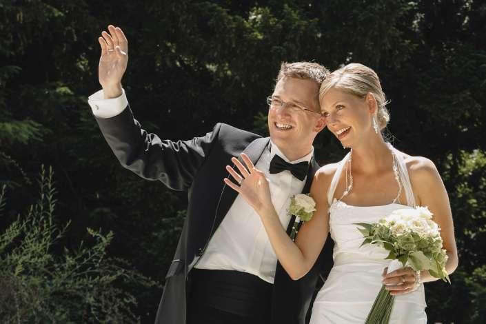 Fotografie von den Brautleuten