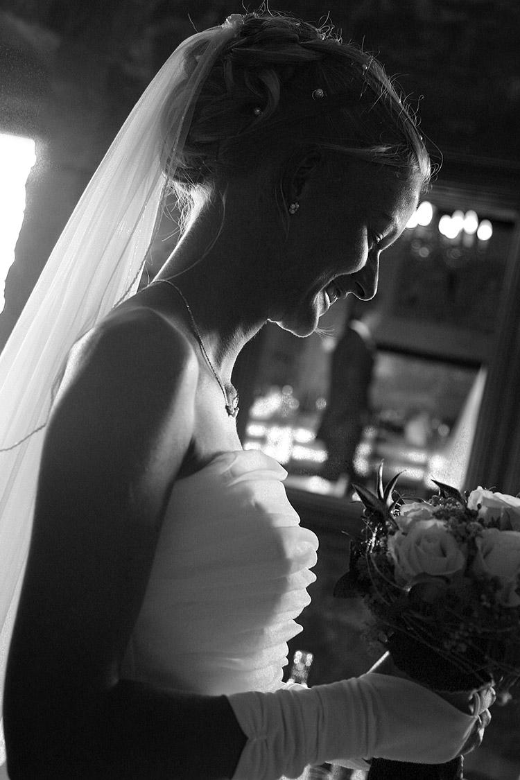 Brautfoto-schwarzweiß Fotografie