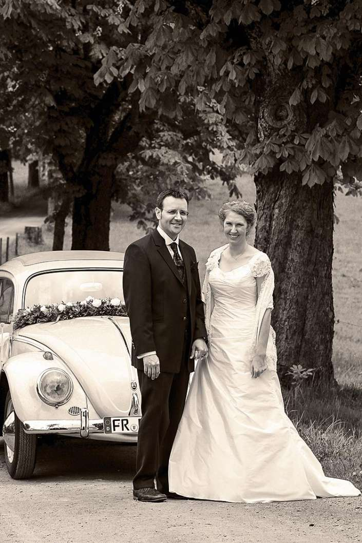 VW-Käfer als Brautwagen