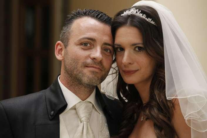 romantisches Brautpaarfoto