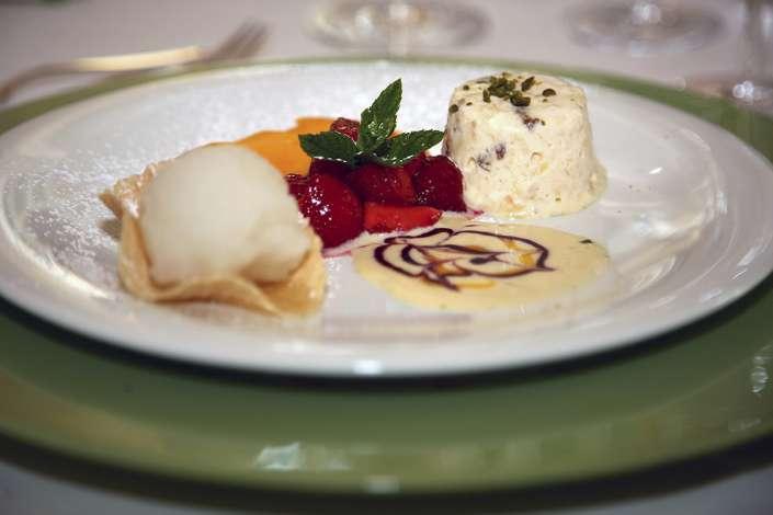Hochzeitsessen Dessertfoto