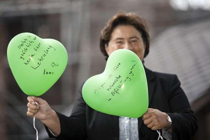 Herzluftballons-Für ein Leben lang