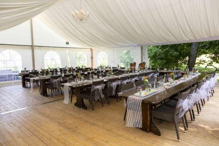 Hochzeitsfest im Zelt