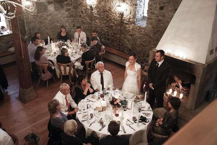 die Fest und Tischrede des Bräutigams