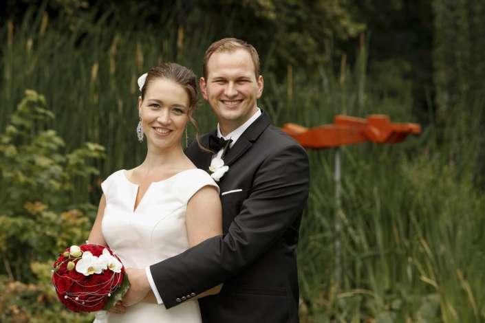Brautpaar in Freiburg, im Park