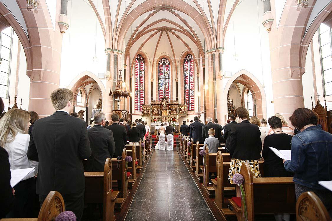 Foto, Trauung in der Stadtkirche, Hochzeit in Baden-Baden