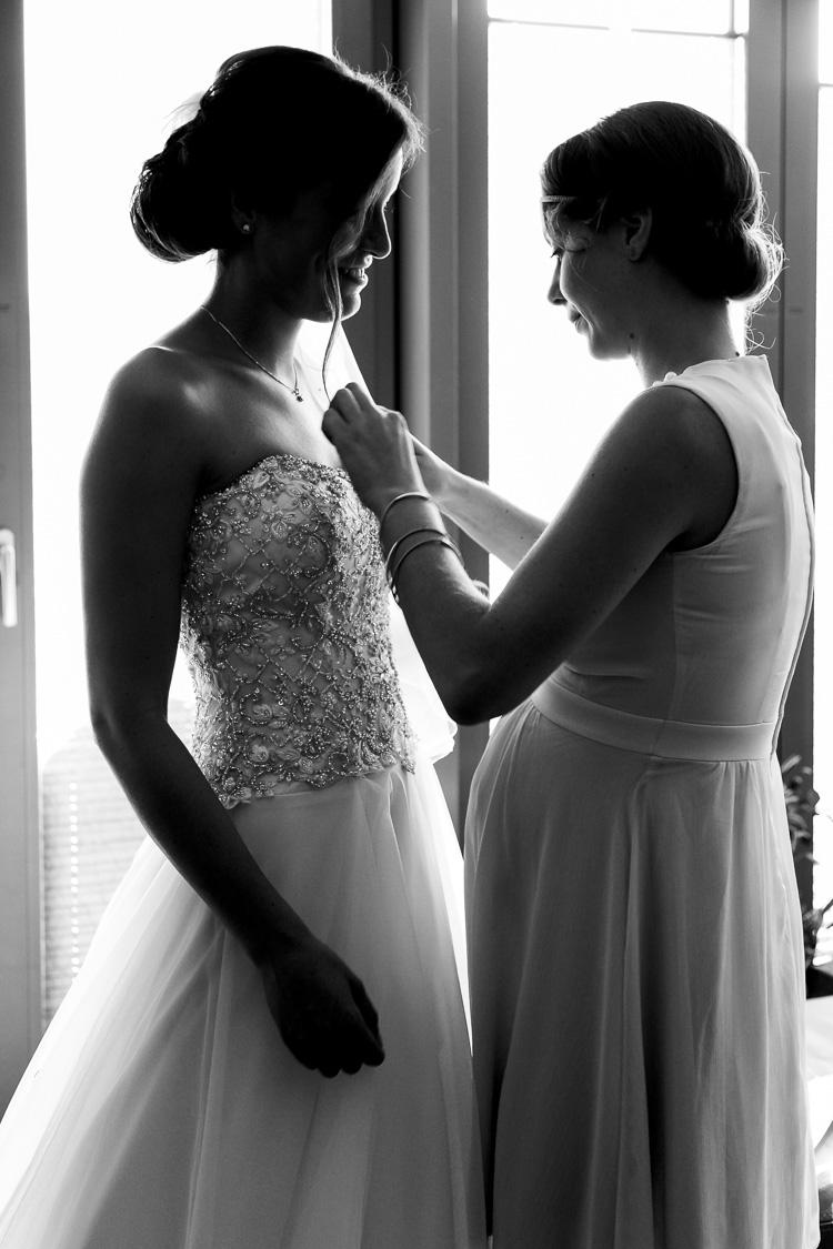 Die fast fertige Braut