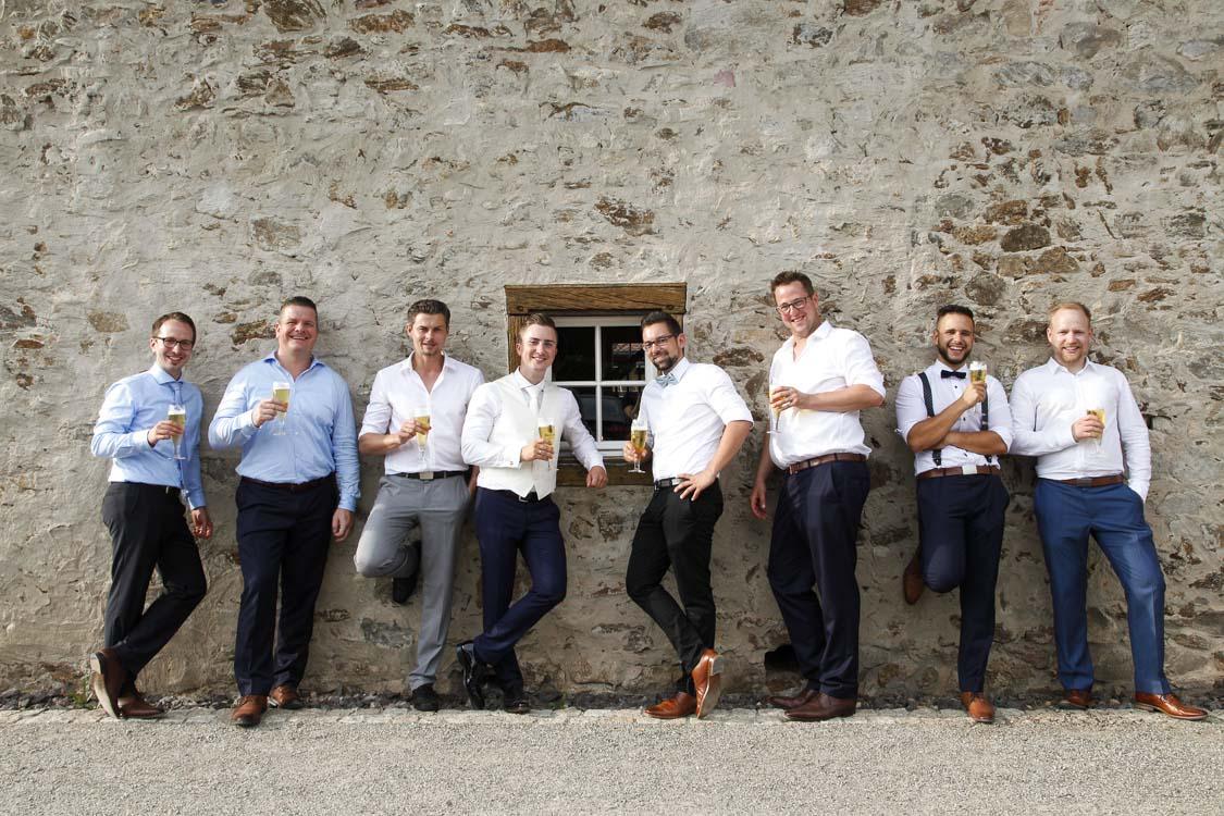 gutgelaunte Jungs - Gruppenfotos Hochzeitsfotograf im Hunsrück
