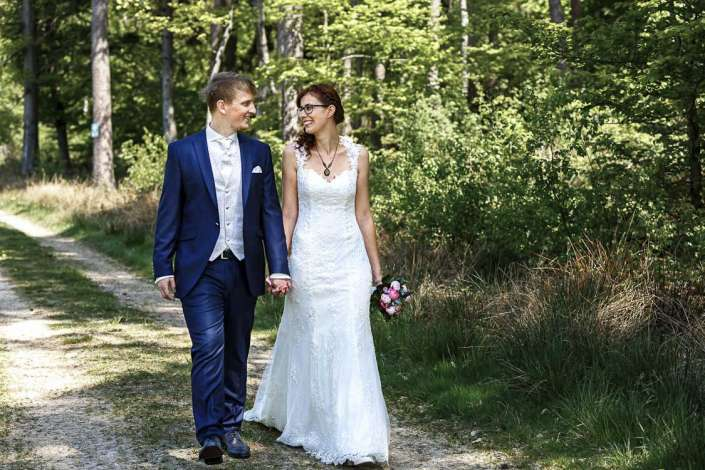 Hochzeit Fotoshooting Bretten im Wald