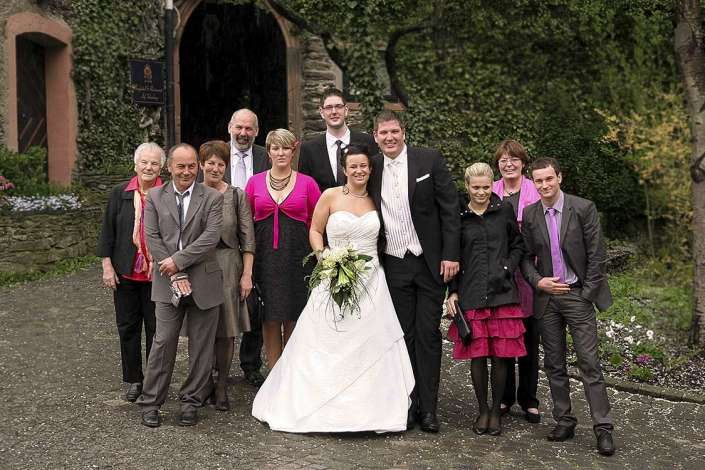 Schloss-Hochzeit am Mittelrhein