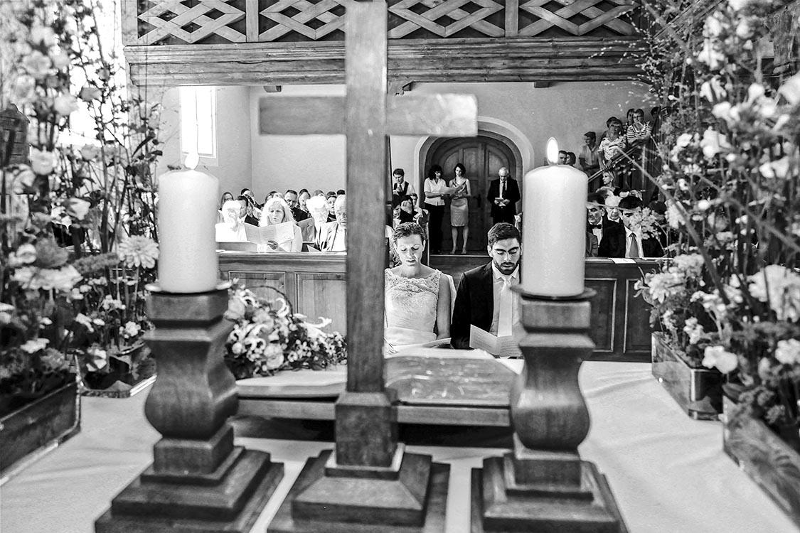 Unser Hochzeitsfotograf, fotografierte auch die Trauung