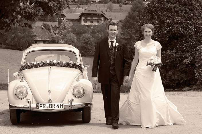 Hochzeitfotos im Kirchzarten im Vintage-Stil