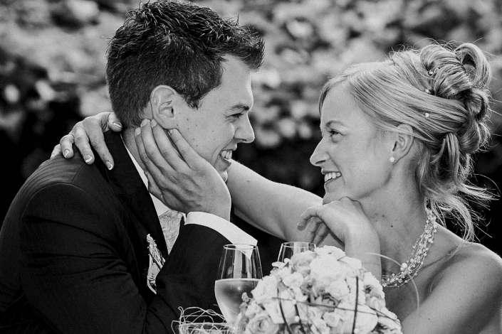 Schwarz-Weiß Hochzeitsfoto in Landau