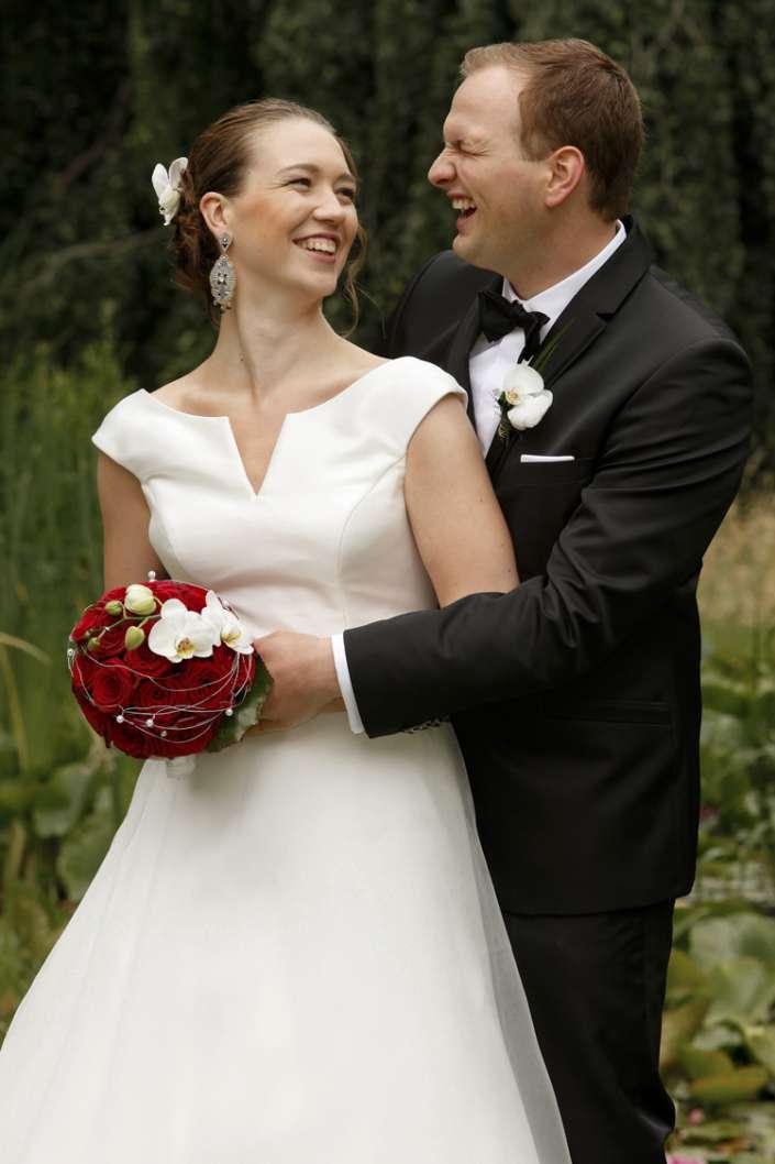 Hochzeitsbild in Oberwesel vom Fotografen, Brautpaarfoto