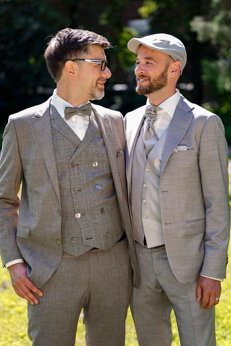Paarfotos Hochzeit zwei Männer