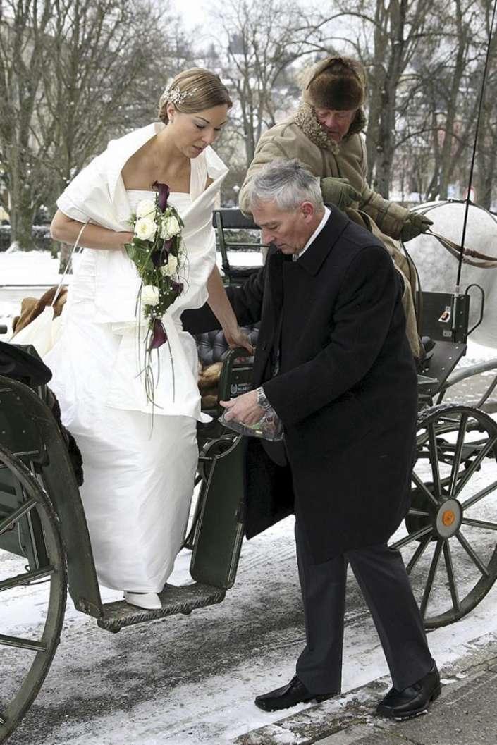 Winter Hochzeitsfoto