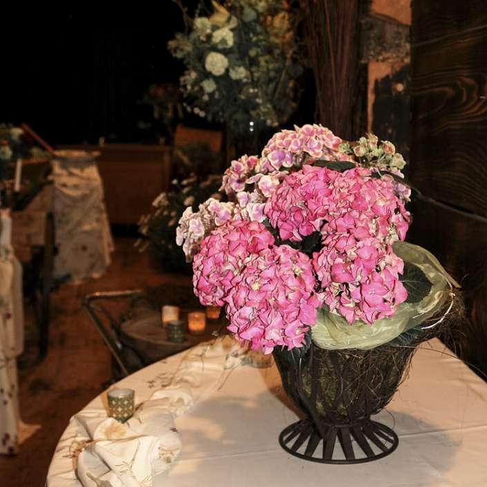 Dekorativer Hortensienstrauß