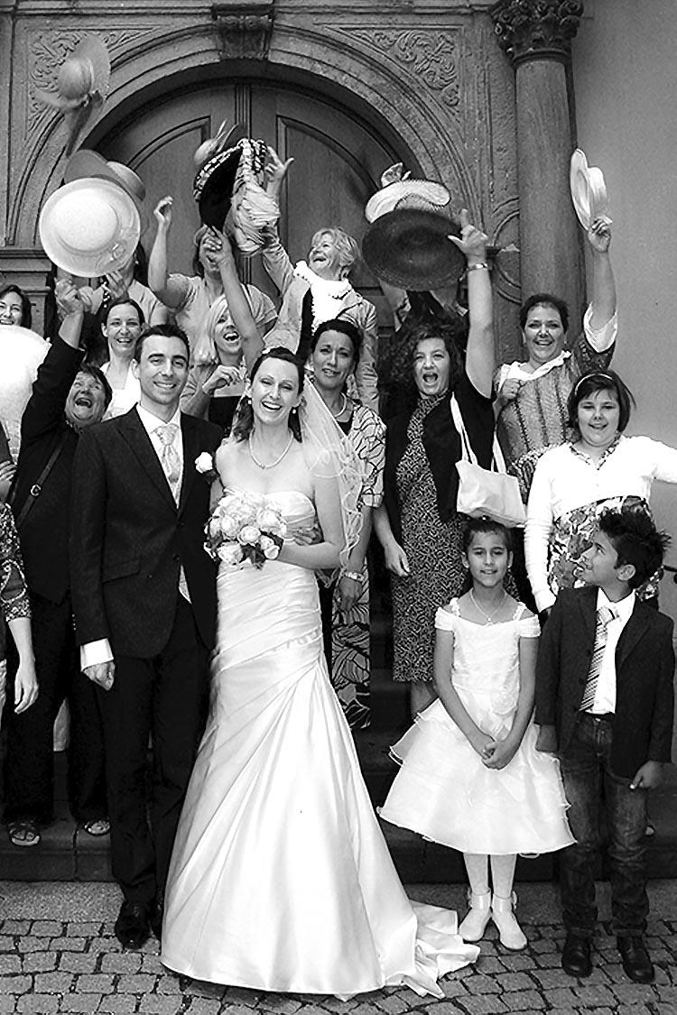 Karlsruhe Hochzeitsbilder in schwarzweiss - stimmungsvoll