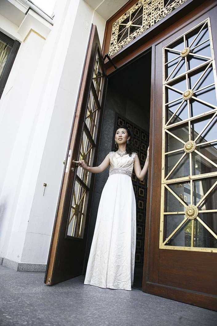 Braut im Kurhaus