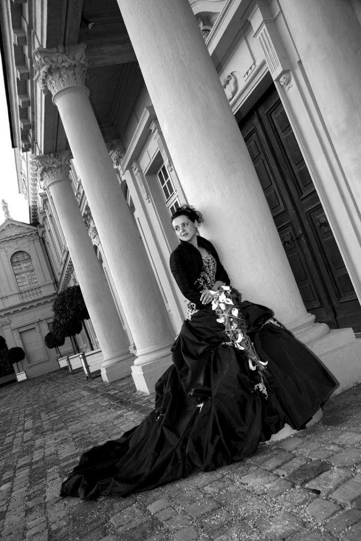 Braut im Rastatter Schloss