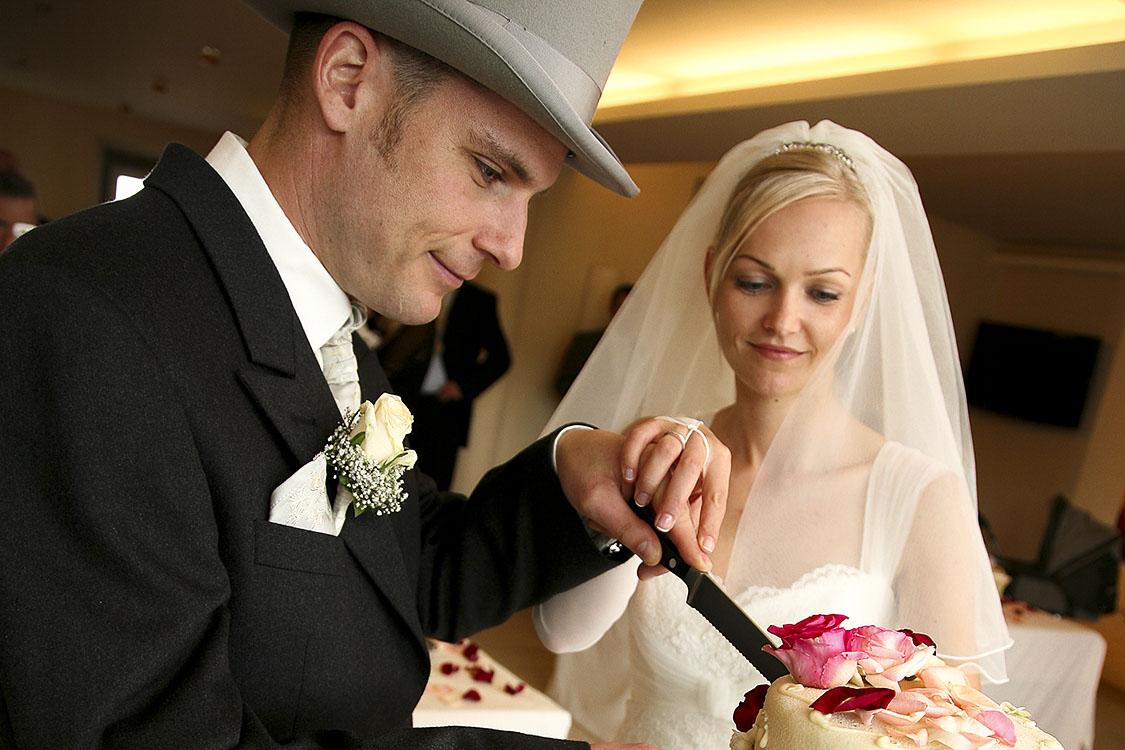 Hochzeit in Rastatt mit Tortenanschnitt