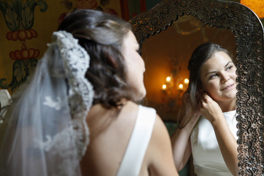 letzter Schliff der Braut