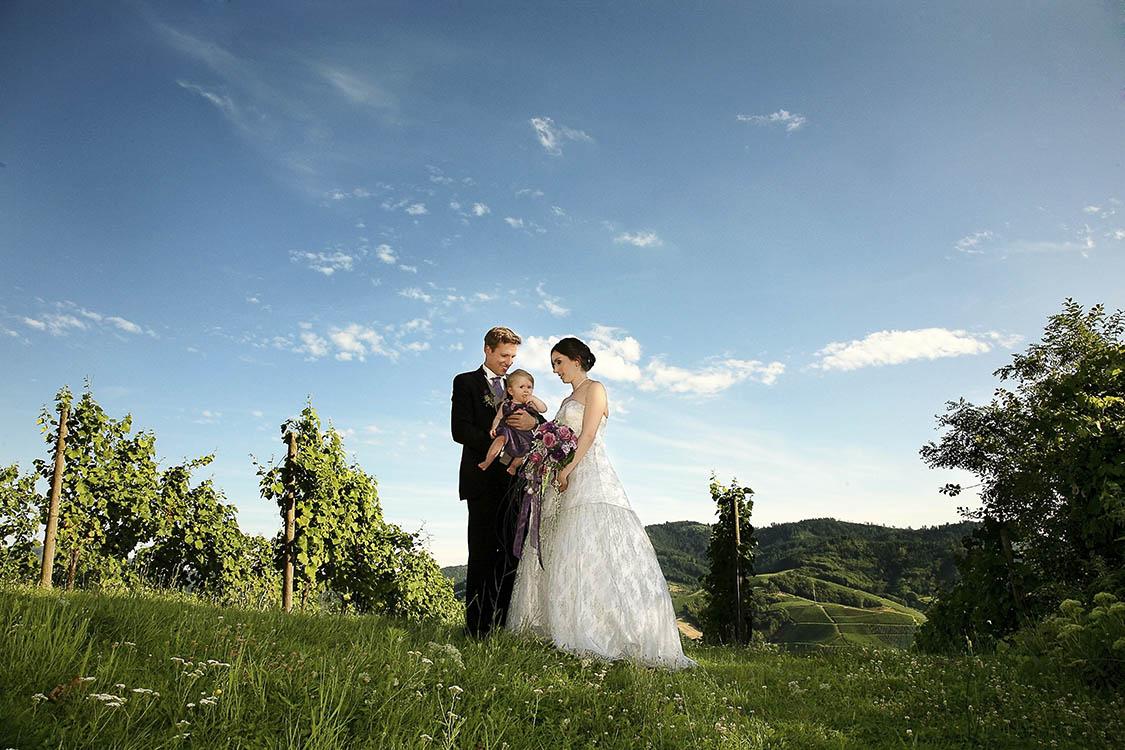 heiraten, Hochzeitsfotos in den Weinbergen