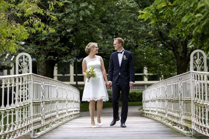 Naturnahe Brautpaarfotos Kirchzarten