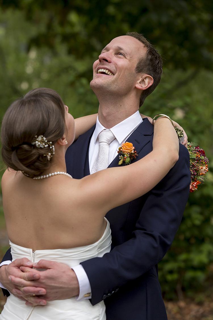 Brautpaar, so glücklich