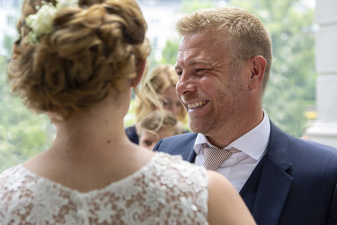Strahlende Gesichter - Hochzeitsfotografie in Karlsruhe