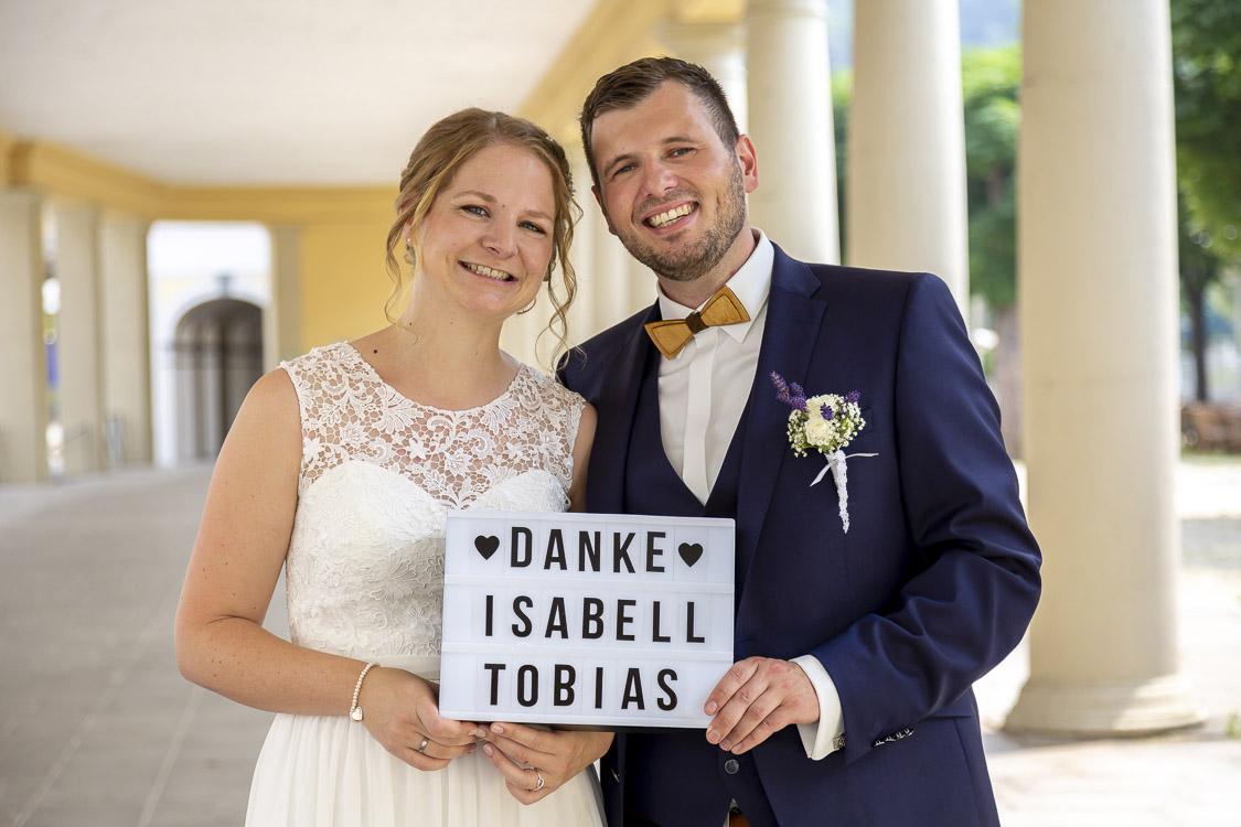 unser Dankeschön an die Hochzeitsgäste