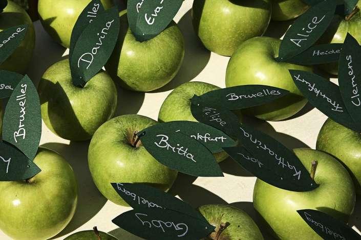 Apfel-Tischkarten