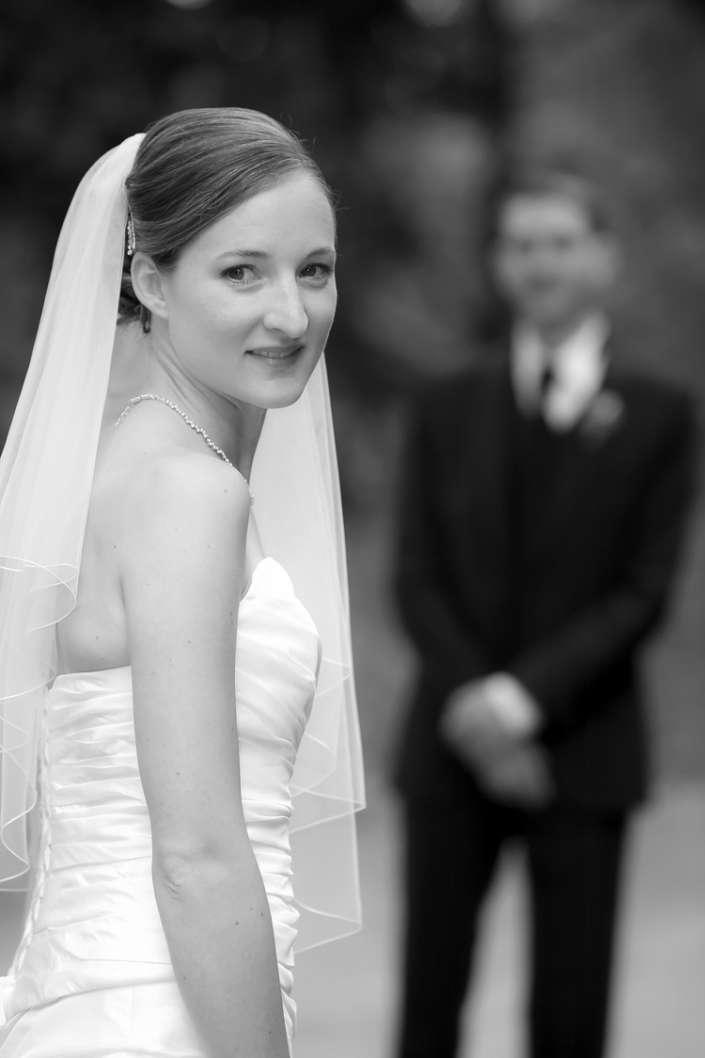 ganz vorne steht die Braut