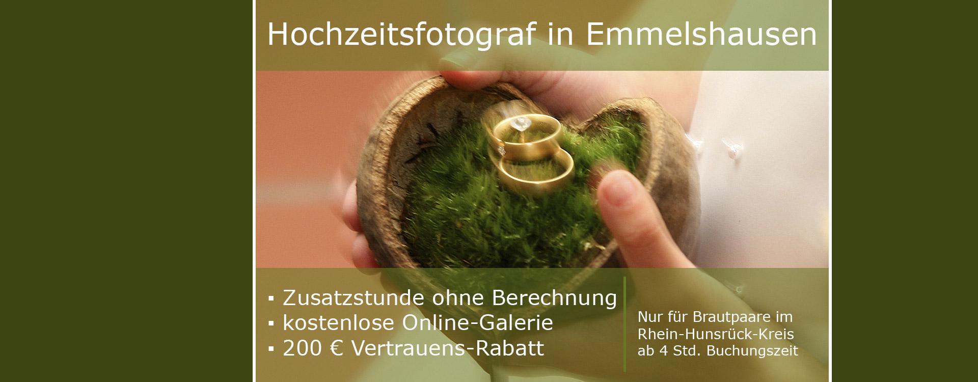 Hochzeitsfotograf in Emmelshausen, Preise im Rhein-Hunsrück-Kreis