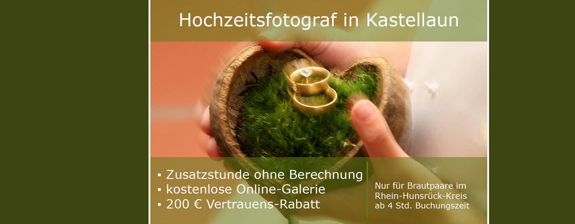 Hochzeitsfotograf Kastellaun,-Preise und aktuelle Angebote