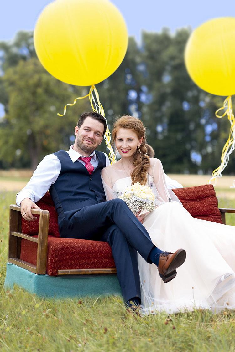 Luftballons bei einer Hochzeit